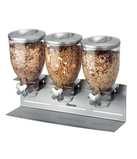 Distributeur de Céréales Triple - 10,5 Litres